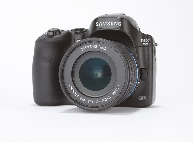 Samsung NX30 Review - angled