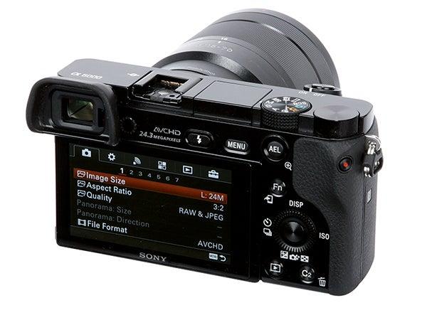 Sony Alpha 6000 Review - rear angled