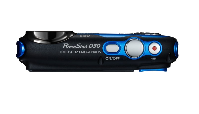 Canon PowerShot D30 Review - top down