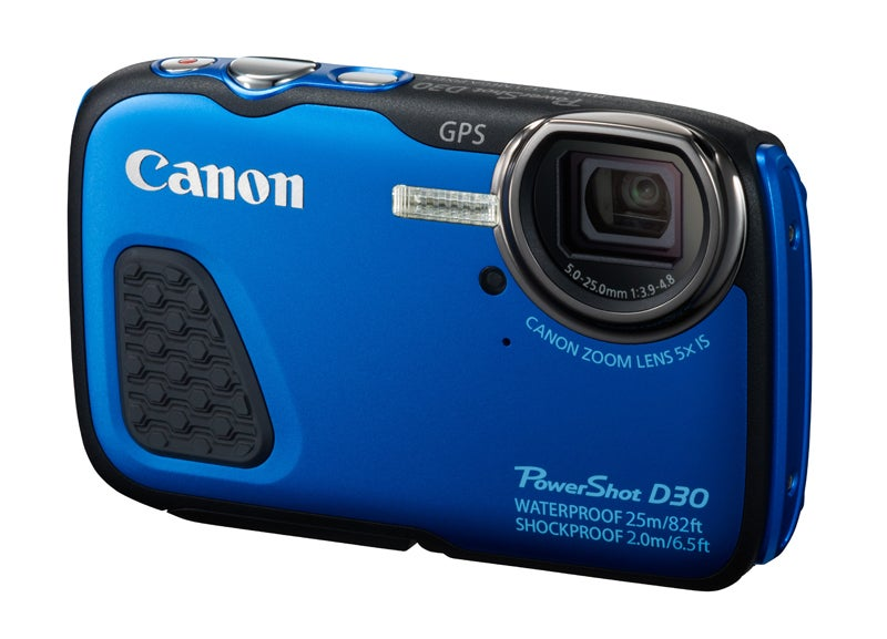 Canon PowerShot D30 Review - front angled