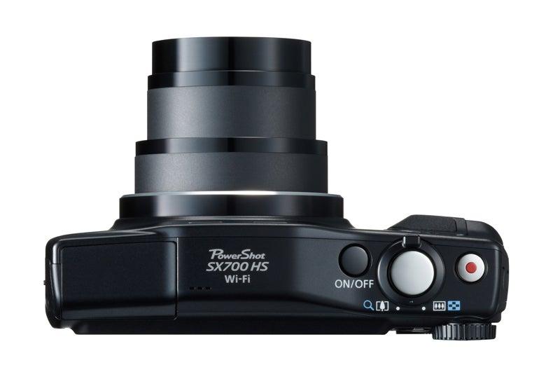 Canon PowerShot SX700 HS Review -  top down