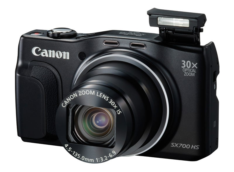Canon PowerShot SX700 HS Review - front angled