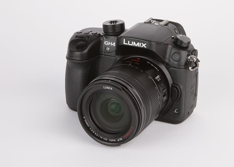 Panasonic Lumix GH4 angled