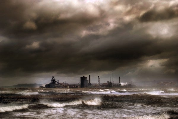 Storm over steelworks by kenwil