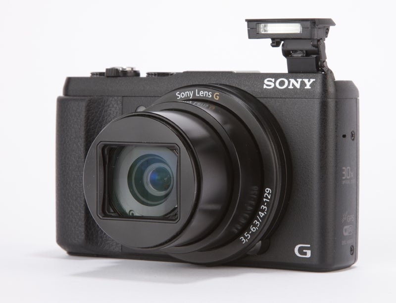 Sony HX60V Review - front angled