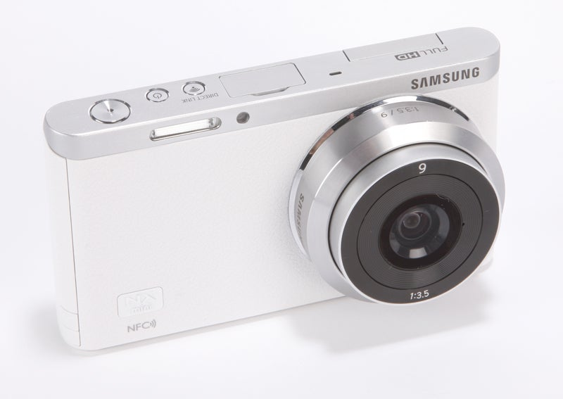 Samsung NX Mini Review - front angled