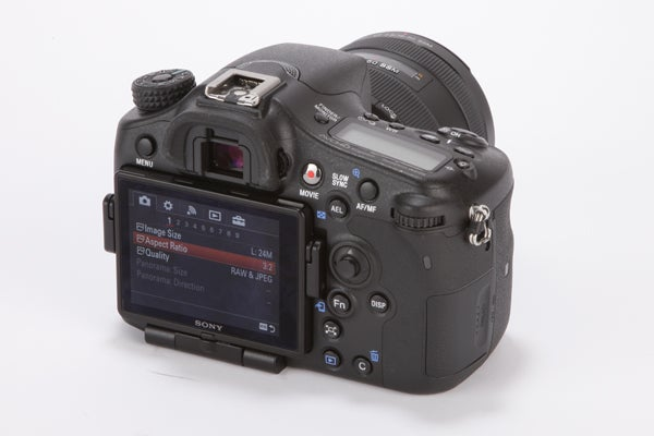 Sony Alpha A77 Mark II Review -  rear
