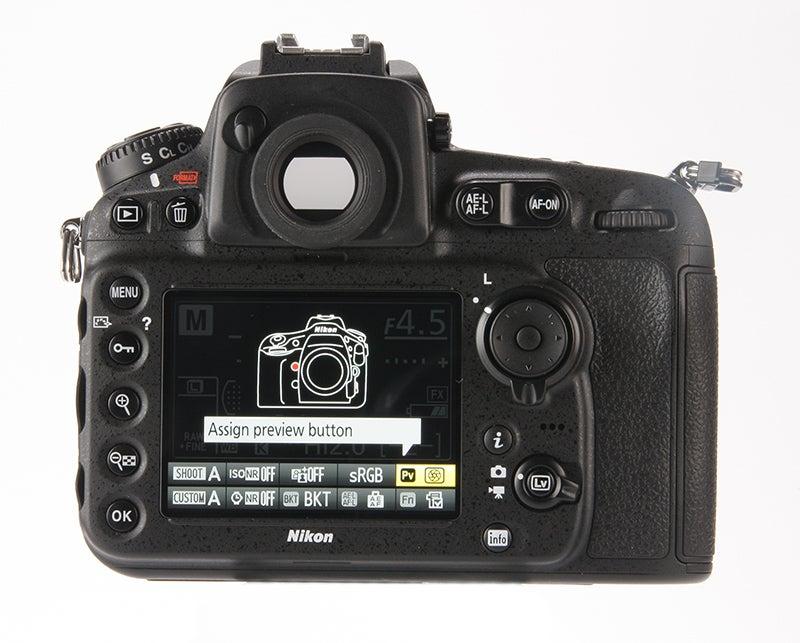 Nikon D810 Review - rear LCD view