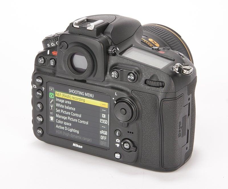Nikon D810 Review - rear view