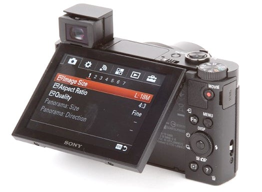 Compact camera viewfinder and LCD