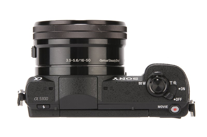 Sony Alpha 5100 product shot, top