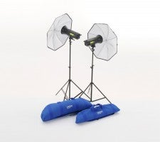 Lumen8 Umbrella kit set up