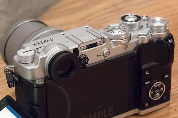The 2.36-million-dot EVF is a first for Olympus's PEN series
