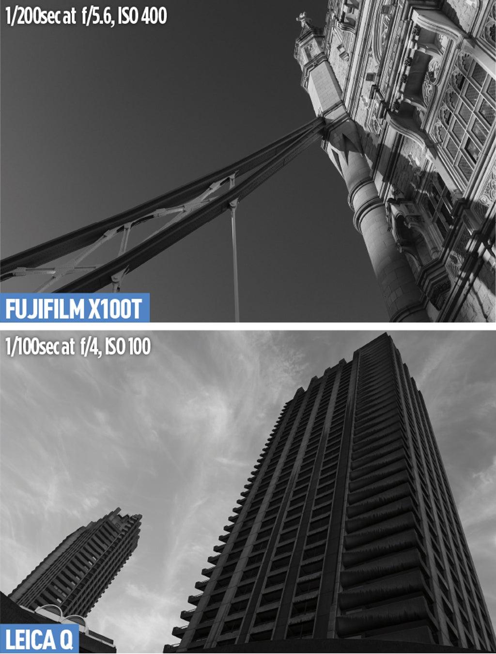 Fujifilm X100T and Leica Q Colour-modes