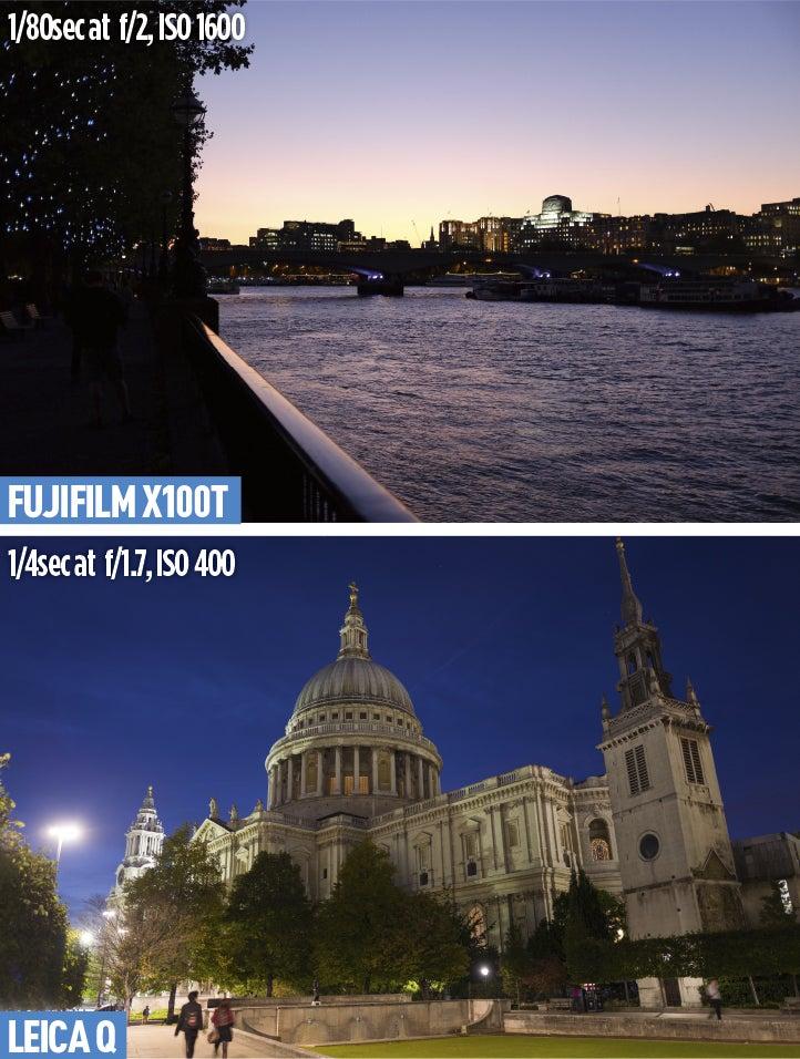 Fujifilm X100T and Leica Q Low-light-shooting