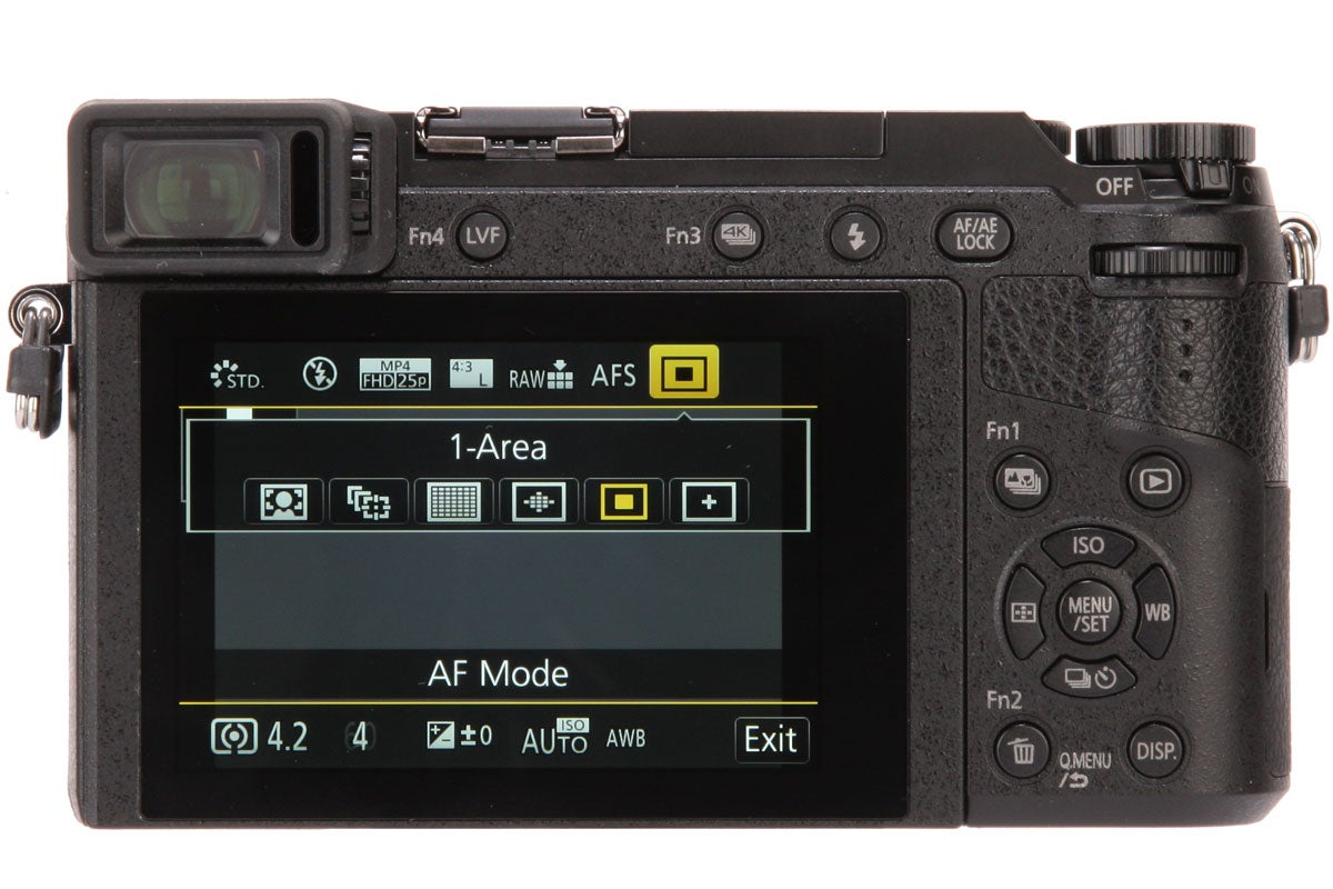 Panasonic's onscreen Q menu gives quick access to many camera settings