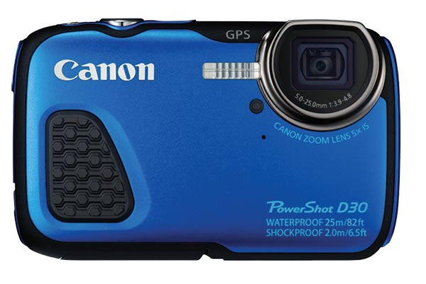 Waterproof digital Cameras :The Canon D30