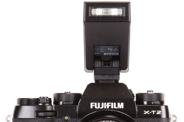 This fold-down, clip-on flash is supplied in the box