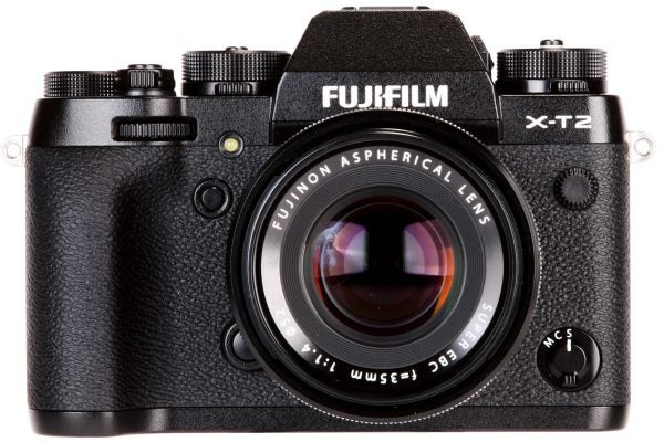 From the front the X-T2 looks very like its predecessor, but the top-plate dials are deeper