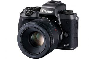 Canon EOS M5 EF lens adapter