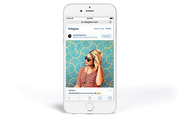 Instagram allows you to show off your work to other users