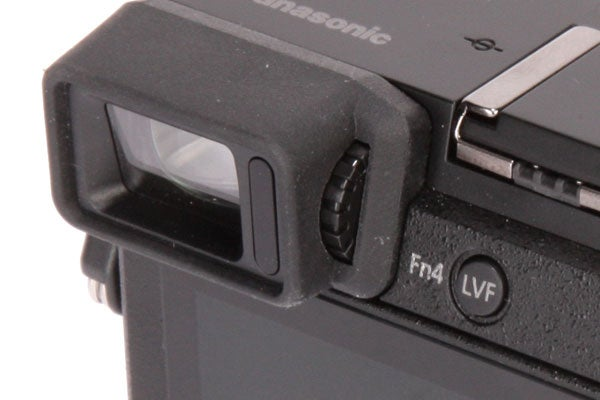 The dial beside the EVF adjusts the dioptre, while the eye sensor can be over-ridden by the LVF button.